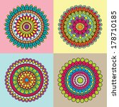 colorful circle indian pattern...   Shutterstock .eps vector #178710185