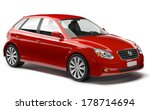 Stock photo red family d car 178714694