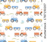 beautiful seamless pattern with ... | Shutterstock . vector #1787150207