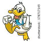 cute duck mascot character...
