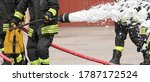 Firefighter Uses A Powerful...