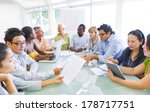 diverse business people working ... | Shutterstock . vector #178717751