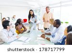 diverse world business people... | Shutterstock . vector #178717799