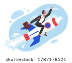 business startup concept vector ... | Shutterstock .eps vector #1787178521