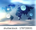 polygonal world map and... | Shutterstock .eps vector #178720031