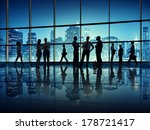 silhouette of business people... | Shutterstock . vector #178721417