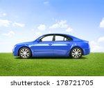 shiny blue 3d car | Shutterstock . vector #178721705