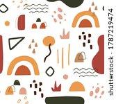 organic shapes in terracotta... | Shutterstock .eps vector #1787219474