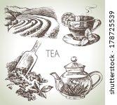 hand drawn sketch vector tea... | Shutterstock .eps vector #178725539