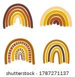 collection of autumn rainbows... | Shutterstock .eps vector #1787271137