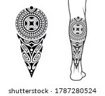 maori tribal style tattoo... | Shutterstock .eps vector #1787280524