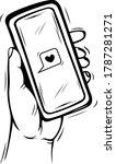 vector illustration of a hand... | Shutterstock .eps vector #1787281271