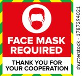 face mask required warning sign ... | Shutterstock .eps vector #1787294021