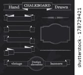 set of chalkboard style banners ... | Shutterstock .eps vector #178729421