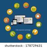 responsive web design icon.... | Shutterstock .eps vector #178729631