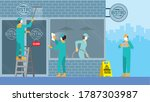 routine everyday job concept.... | Shutterstock .eps vector #1787303987