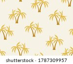 coconut gold palm tree pattern... | Shutterstock .eps vector #1787309957
