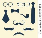 gentlemens vintage stuff design ... | Shutterstock .eps vector #178732124