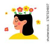 happy smiling girl. mental... | Shutterstock .eps vector #1787324837