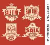 sale label and tag red design...   Shutterstock .eps vector #1787331854