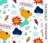 vector seamless pattern with... | Shutterstock .eps vector #1787331911