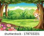 illustration of a young girl... | Shutterstock .eps vector #178733201