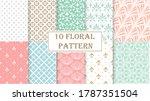 geometric floral set of... | Shutterstock .eps vector #1787351504