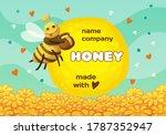 vector label for honey product... | Shutterstock .eps vector #1787352947