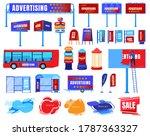 billboard advertising vector... | Shutterstock .eps vector #1787363327