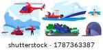 rescue disaster vector...   Shutterstock .eps vector #1787363387