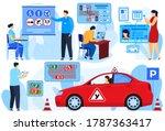 instructor exam for car driver  ...   Shutterstock .eps vector #1787363417