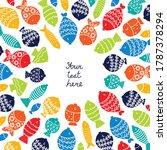 cute fish card. sea motif.   Shutterstock .eps vector #1787378294