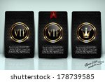 vip card collection | Shutterstock .eps vector #178739585