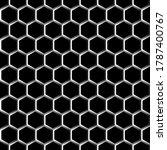 Modern Hexagon Lines  Seamless...