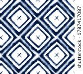 tie dye shibori seamless... | Shutterstock . vector #1787417087