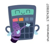 calculator and crayon with... | Shutterstock .eps vector #1787435837