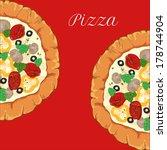 vector neapolitan pizza with... | Shutterstock .eps vector #178744904