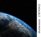 "Small photo of Earth view from outer space. ""Elements of this image furnished by NASA"""