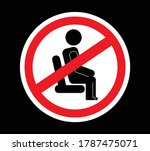 do not sit here sign   caution... | Shutterstock .eps vector #1787475071