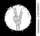 vector black and white skeleton ... | Shutterstock .eps vector #1787489927