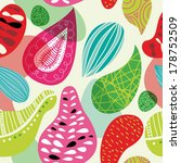seamless retro blossom in... | Shutterstock .eps vector #178752509