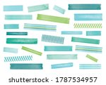 watercolor washi tape. ocean... | Shutterstock .eps vector #1787534957