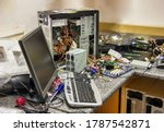 Messy Computer Workshop With A...