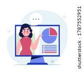 online business woman meeting... | Shutterstock .eps vector #1787552951