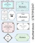 calligraphic elements and frame ... | Shutterstock . vector #1787593247