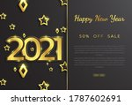 numbers and gold star 2021 with ... | Shutterstock .eps vector #1787602691