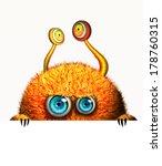 cartoon monster hiding ... | Shutterstock . vector #178760315