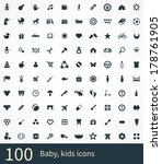 baby  kids icons vector set | Shutterstock .eps vector #178761905