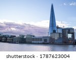 Small photo of LONDON - JANUARY 16, 2019: The Shard skyscraper in Southwark, London, England. Also known as Shard of Glass, Shard London Bridge or London Bridge Tower.