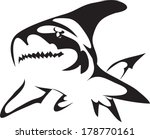 shark tattoo symbols.vector | Shutterstock .eps vector #178770161